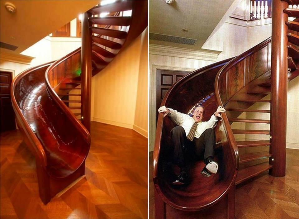 Escalier toboggan divertissez vous for Toboggan escalier
